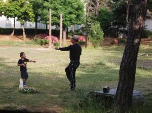 3 おじさんとラジオ体操