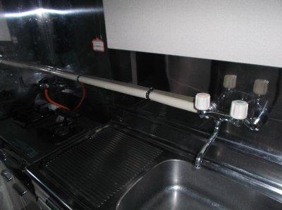 2 工事後  新しく露出配管をしました