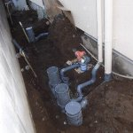 2  工事中 排水マス設置