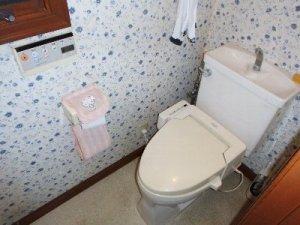 1 工事前 便座が故障したトイレ