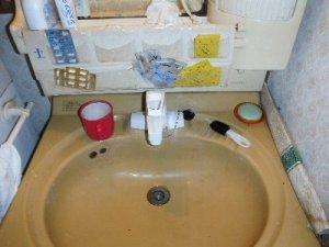 2 工事後  シングルレバー水栓でお湯を止めやすくなりました。