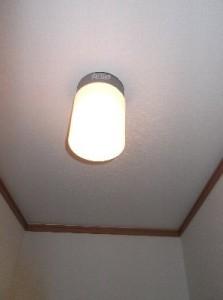 9 脱衣場の照明はLED照明に変更