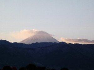 1 富士山がきれいに見えました。