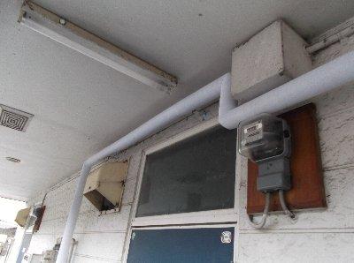 3 工事後  給湯器まで新たに配管をしなおしました。
