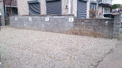 工事後  整地完了・ロープろ番号をつけて安全のためミラーを取付ました。